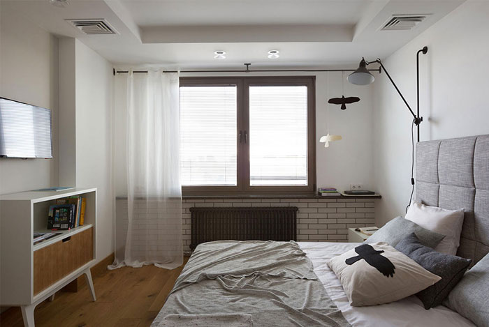bedroom strict geometric forms