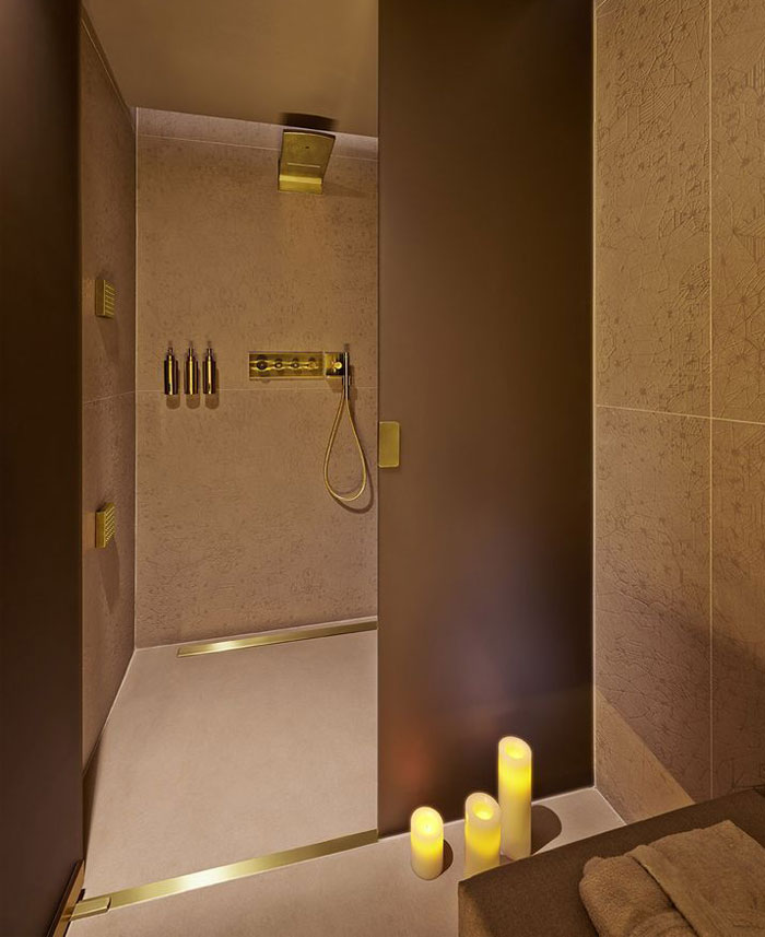 brushed gold hansgrohe shower mixers