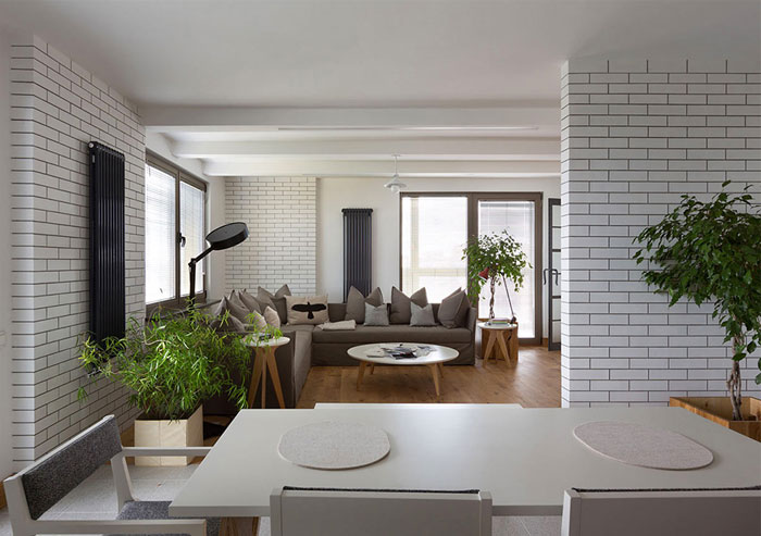 dining room monochrome predominantly white color