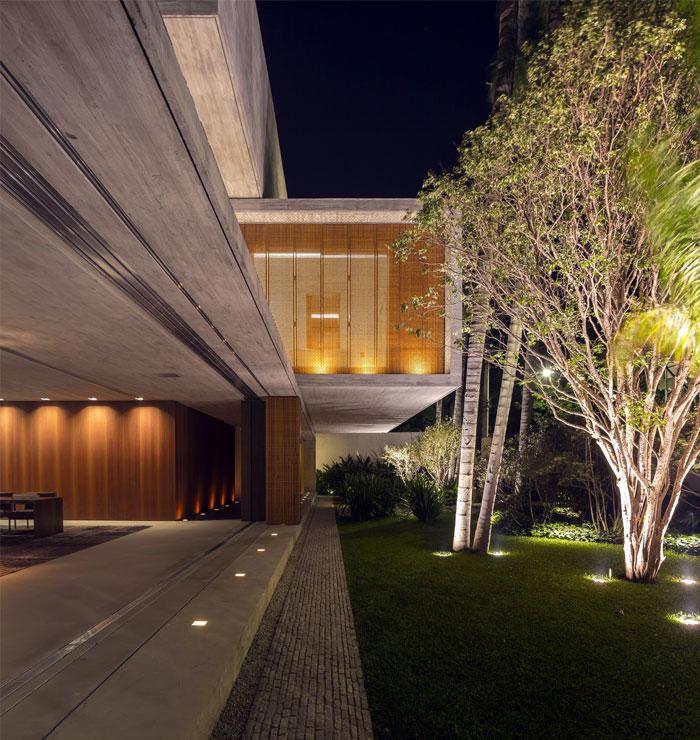 host spaces open toward outdoor