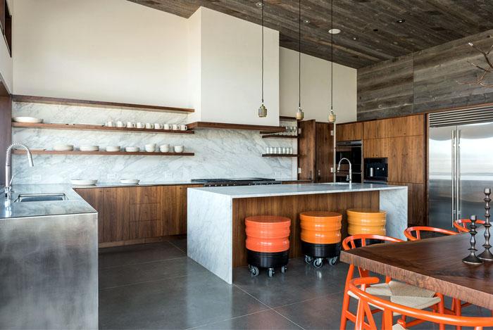 kitchen polished concrete marble modern appliances