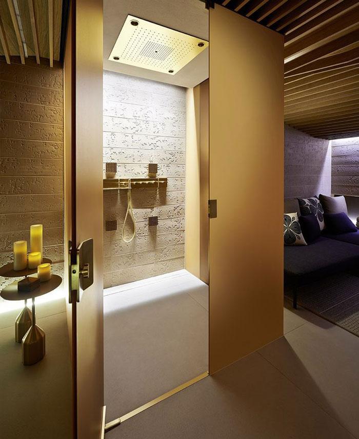 luxurious spa treatment room