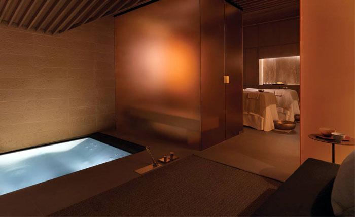 luxurious treatment room