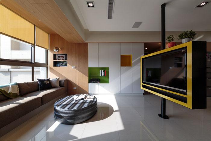practical furnished living area