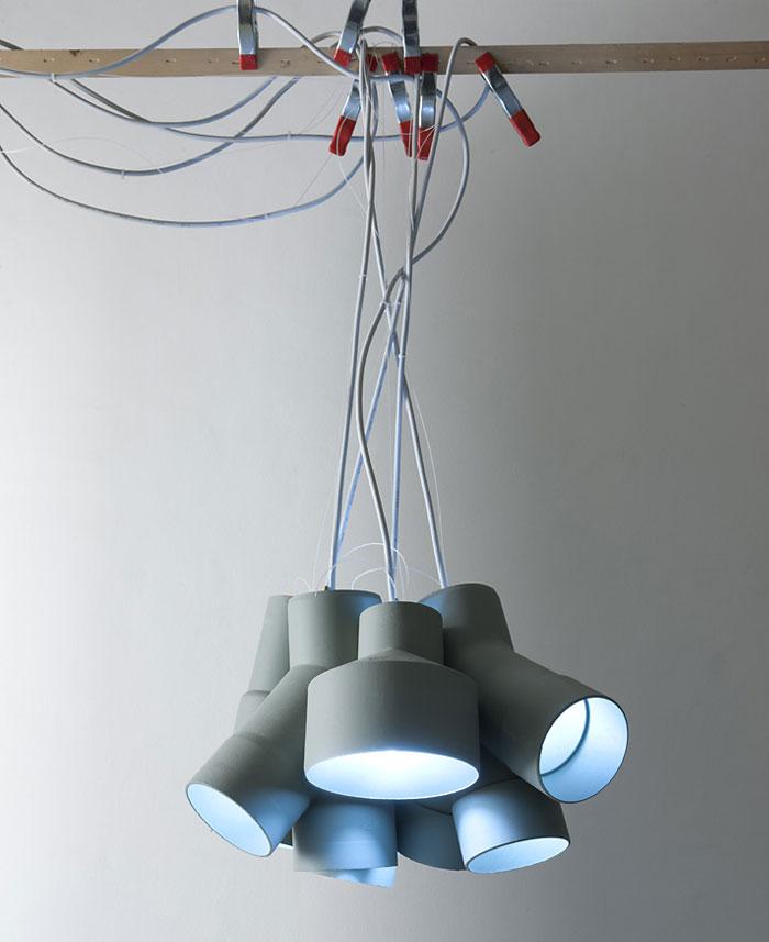sewer tubes lamp