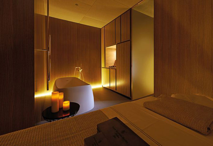 attic bedroom lighting ideas - Four Seasons – Spa Interior Design by Patricia Urquiola