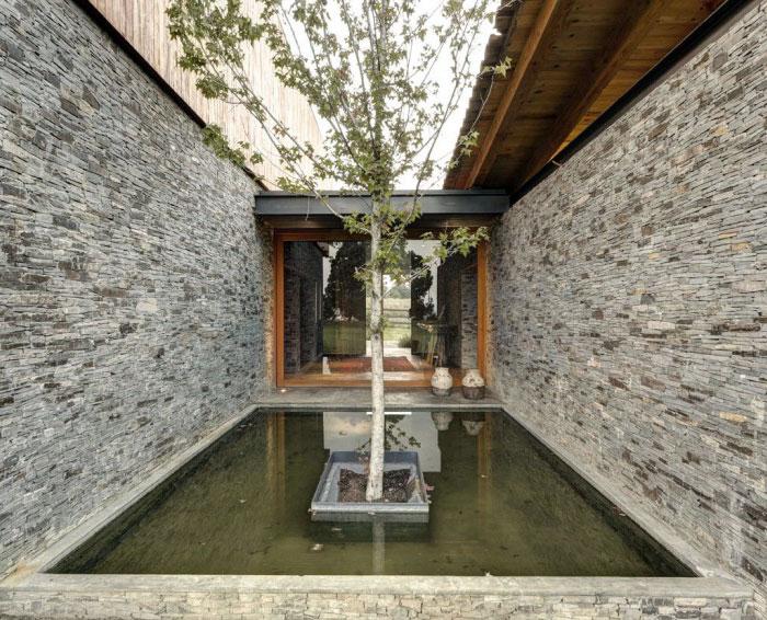 stone wood garden