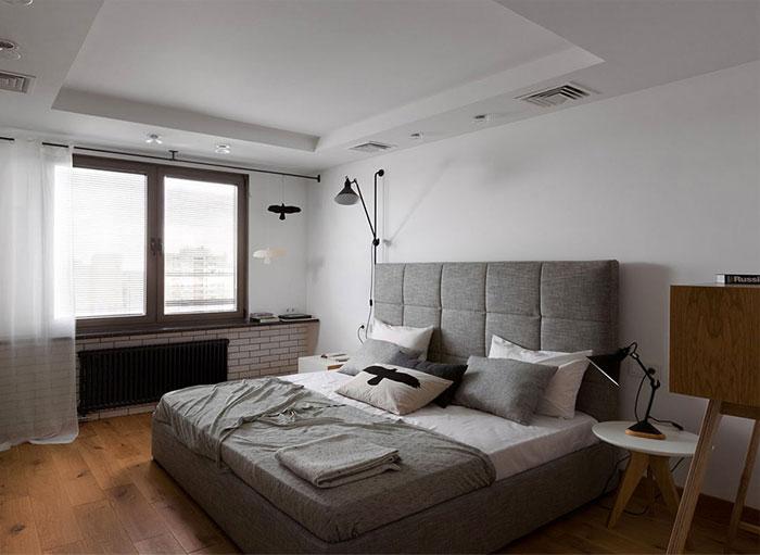 white color walls bedroom grey textile