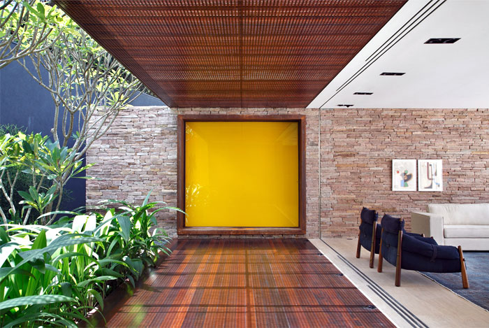 beautifully tiled wood stone walls soft textures interior