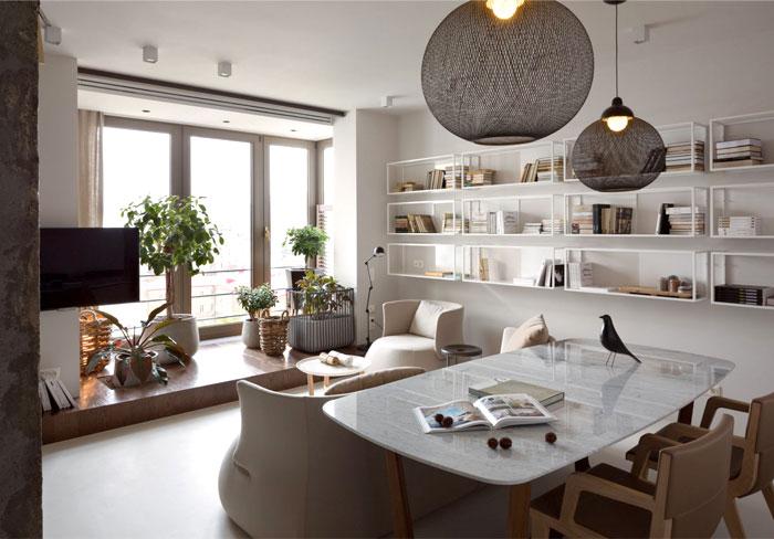 Elegant and Stylish Apartment Renovation by Olga Akulova ... on Comfortable Living  id=29258