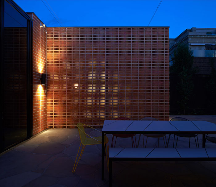 functional brick breathing facade