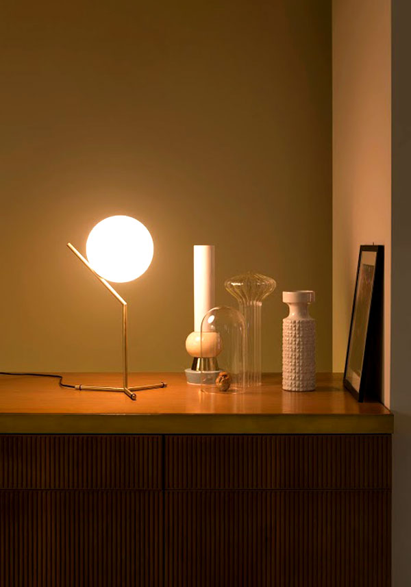 modern shape flos light