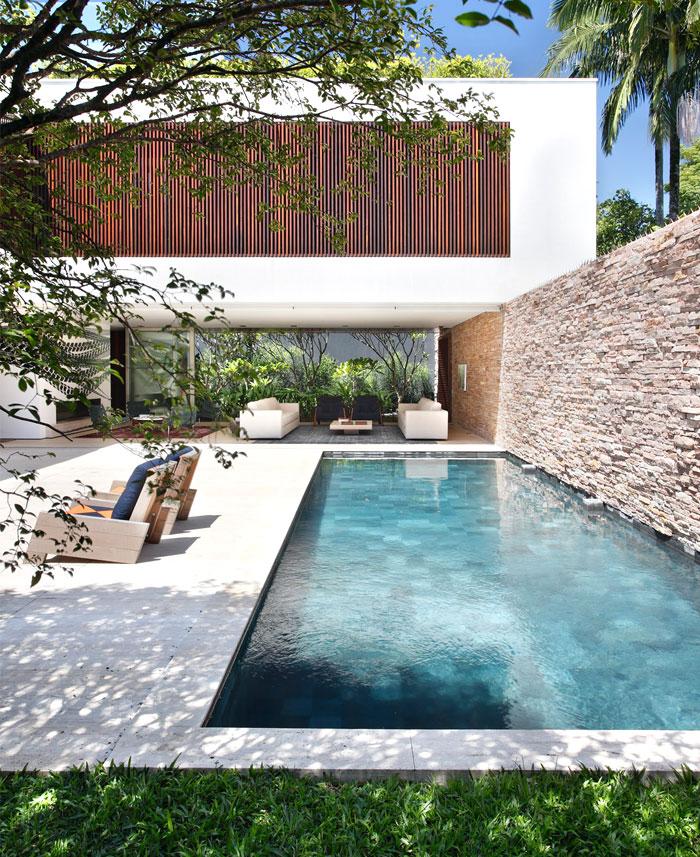 residence designed full integration garden living areas