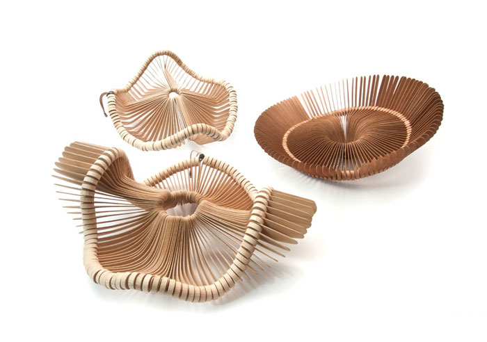 strong sculptural form baskets