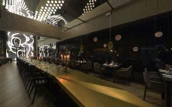 asian restaurant modern light installation 338x212