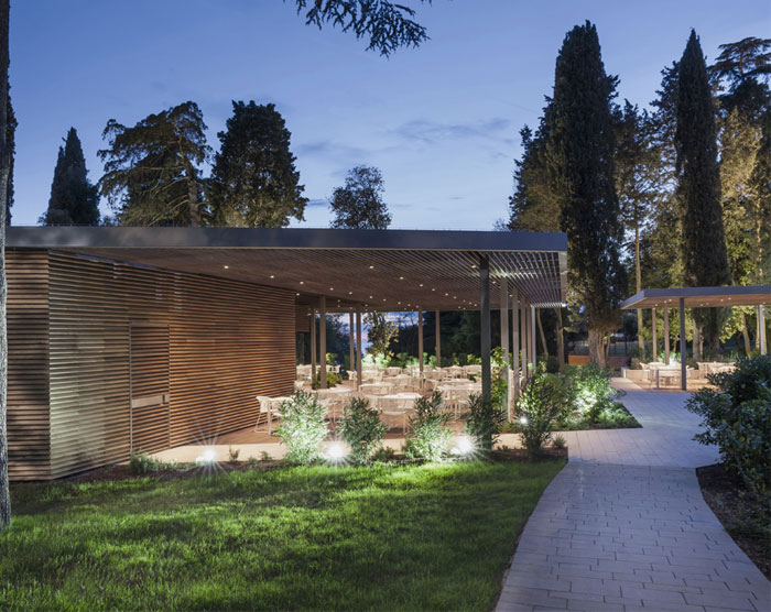 elegant comfortable furniture garden restaurant