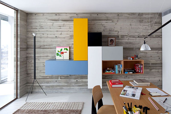 office-wall-storage-unit-comprised-colourful-blocks