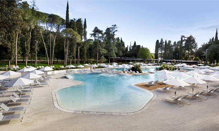 outdoor pool hidden forest park