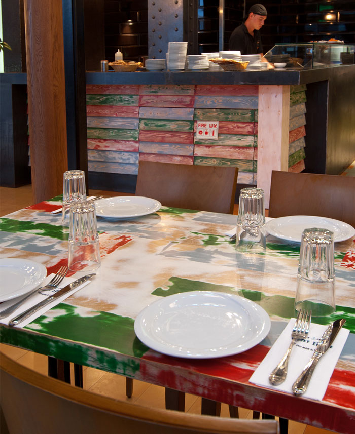 wooden surface tables paint