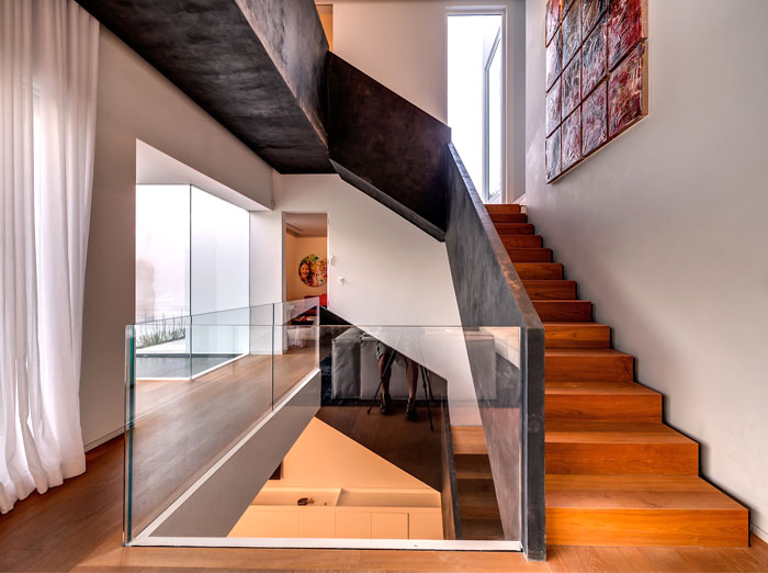 impressive corridor staircase