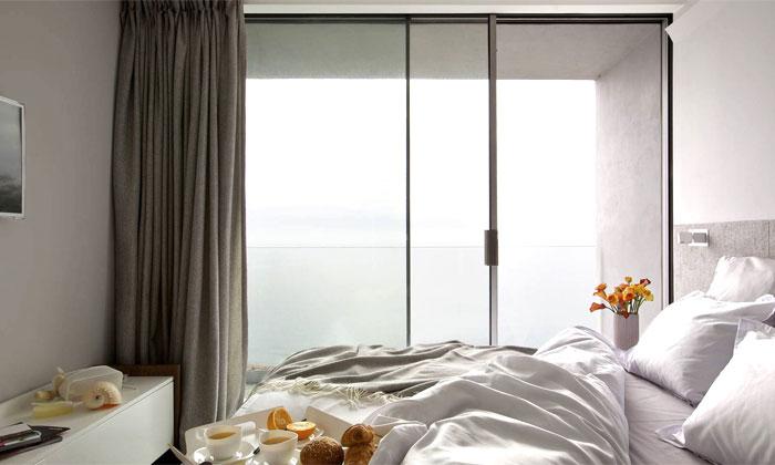 light neutral colors soft textures bedroom