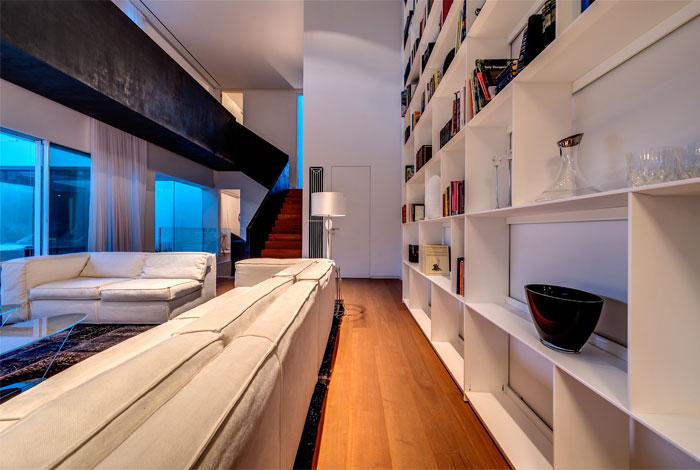 wooden floors dominate warm range interior