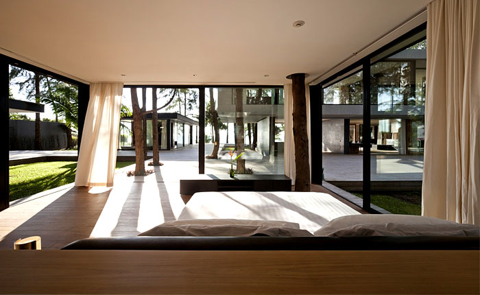 seafront house bedroom