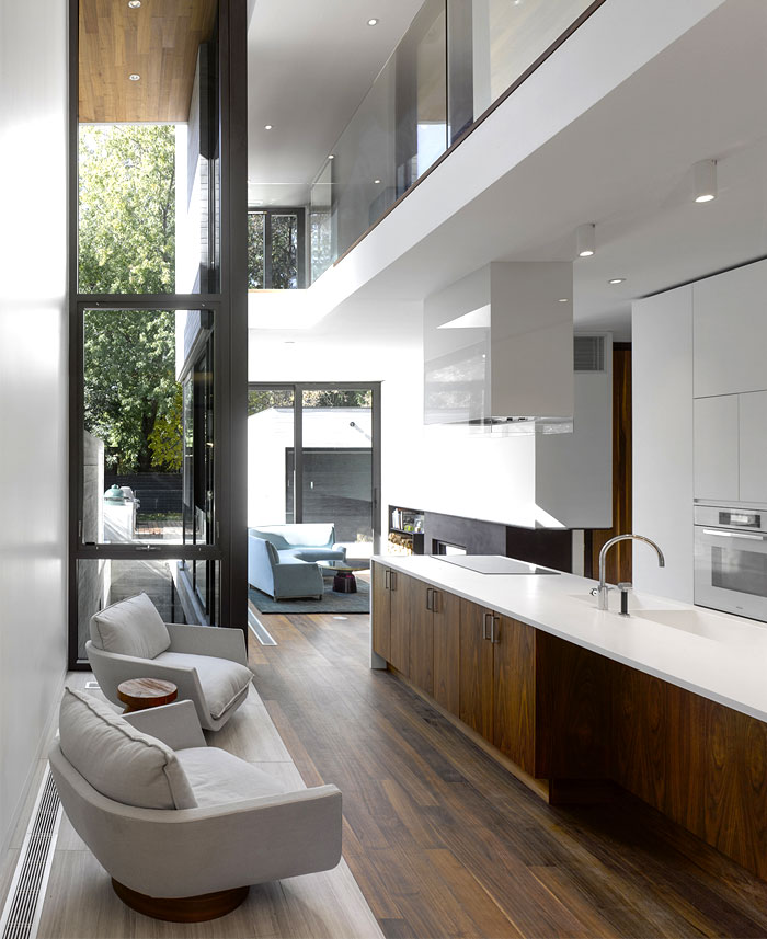 american black walnut cladding kitchen furnishing