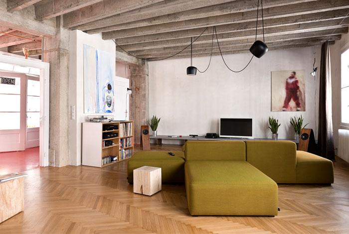 bratislava loft like space cross shaped sofa