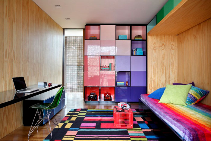 bright color bedroom