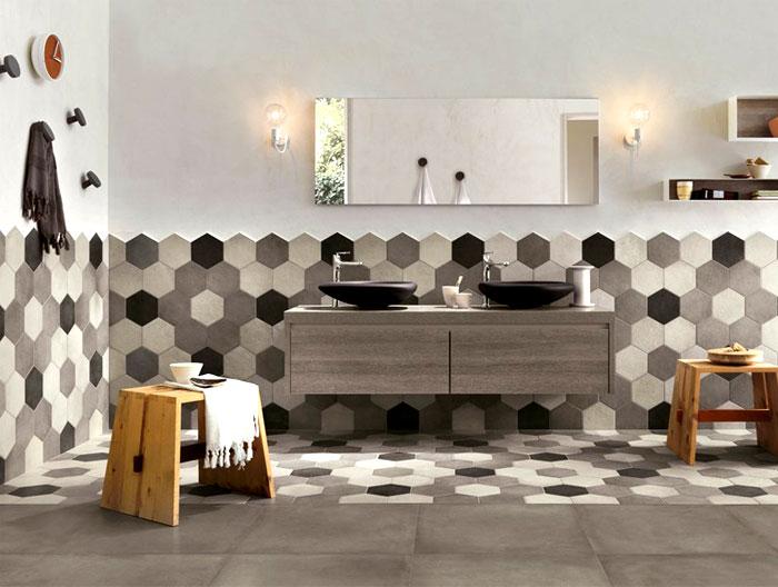 attic bedroom decorating tips - Hexagonal Wall Tiles InteriorZine