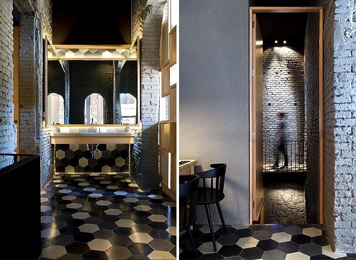 saboc restaurant flooring decor