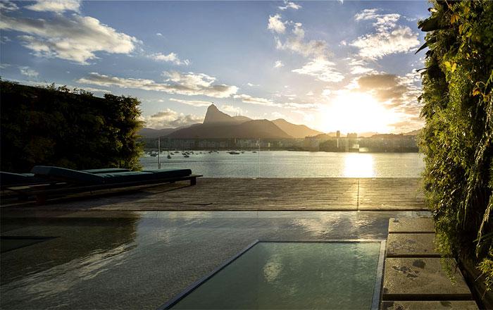 ultra luxury penthouse pool area
