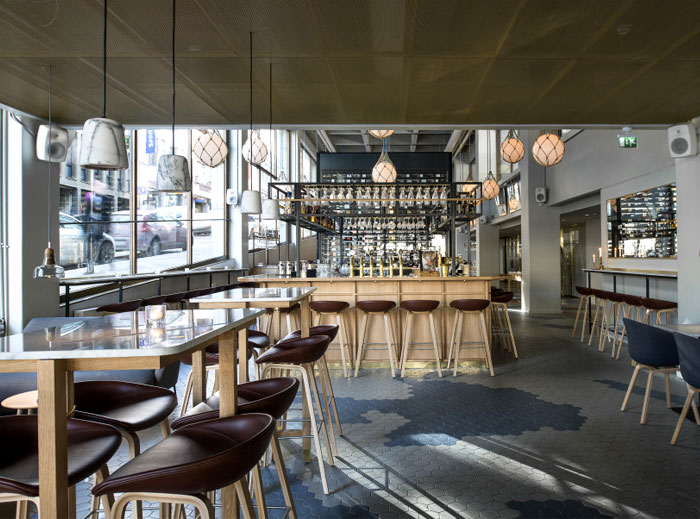 Bronda Restaurant Decor Inspired By Scandinavian Sea Coast