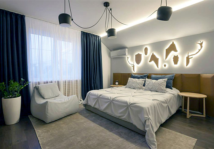 contemporary-bedroom-design-in-blue-and-beige