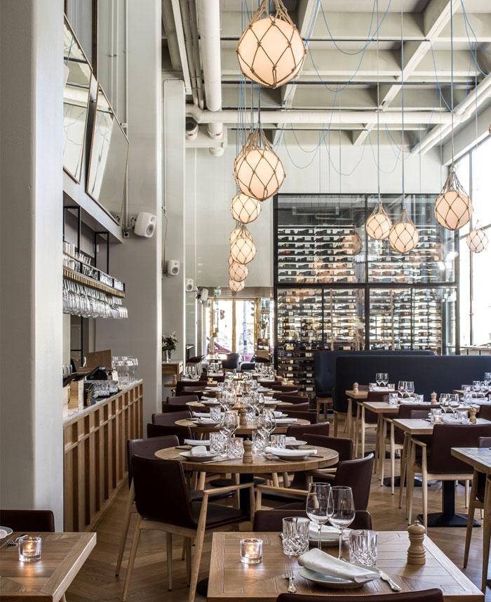 Bronda Restaurant Decor Inspired By Scandinavian Sea Coast Interiorzine