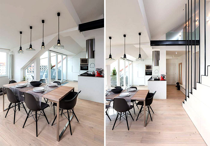 three functional zones living room kitchen dining