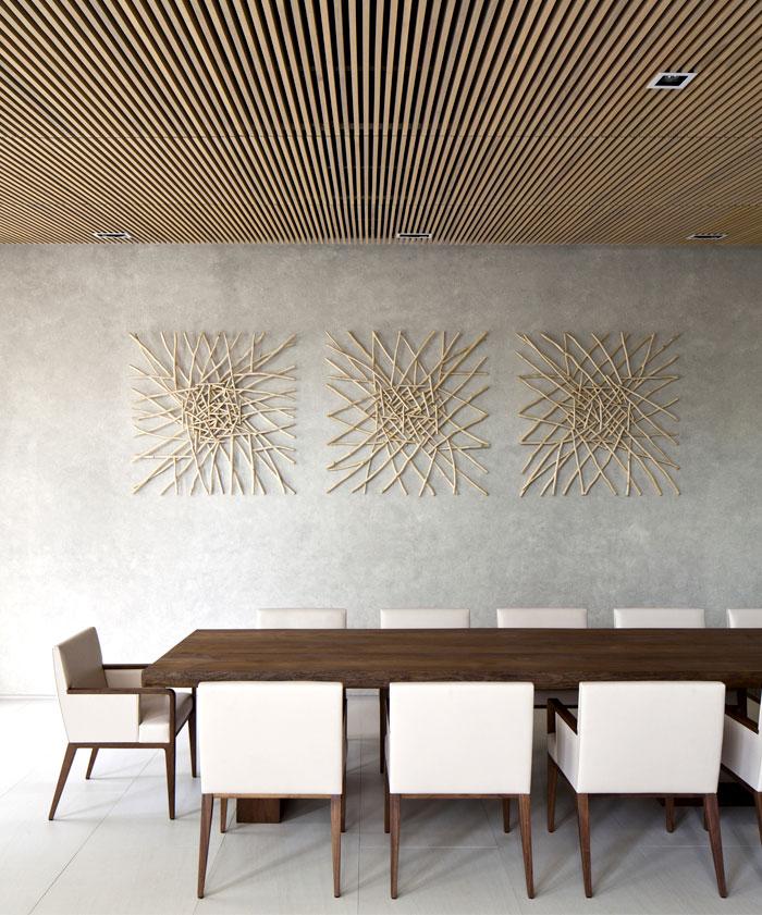 artistic decoration dining area