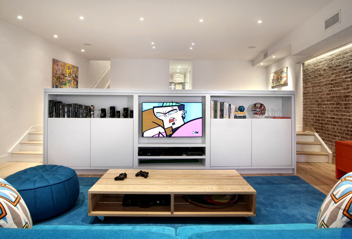 downstairs-tv-room-blue-decor