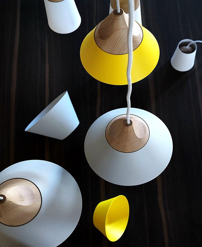 lamp colored metal shade