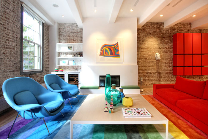 New York Duplex Apartment by Ghislaine Vinas Interior ...