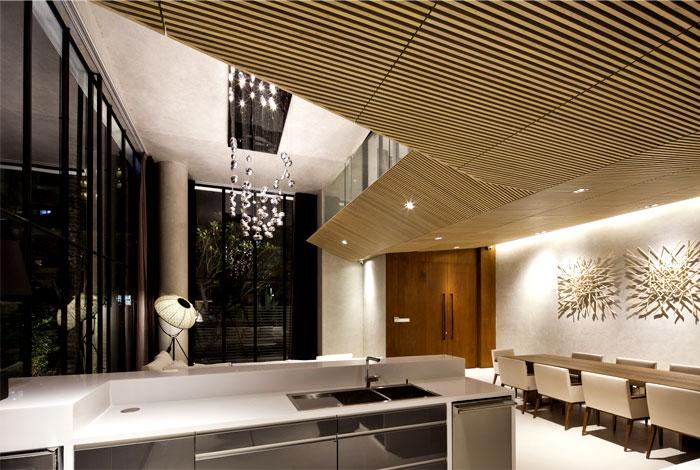 silver drops light living room