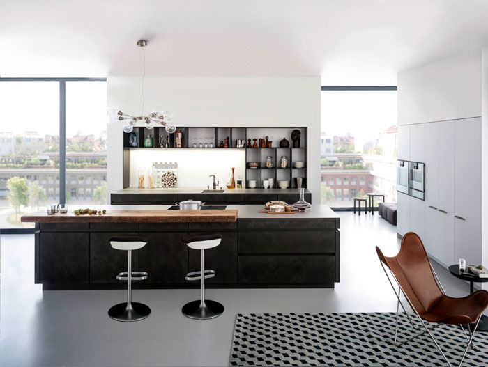 sophisticated minimalist design kitchen