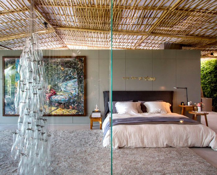 tropical pavilion bedroom interior