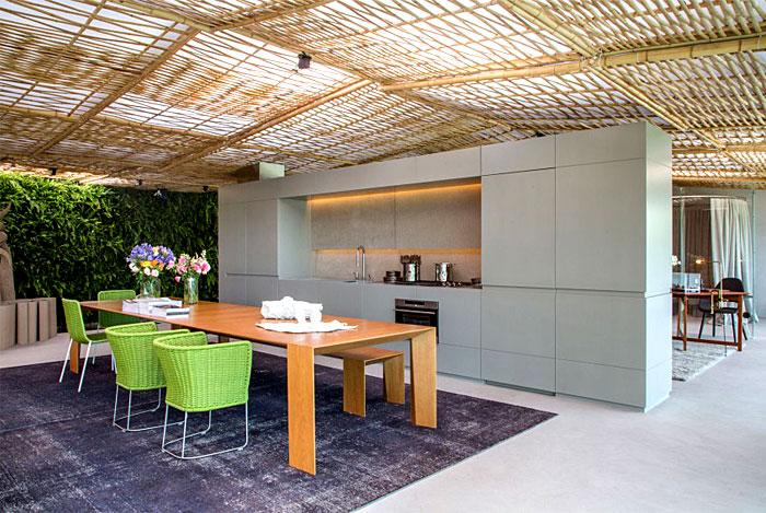tropical pavilion kitchen