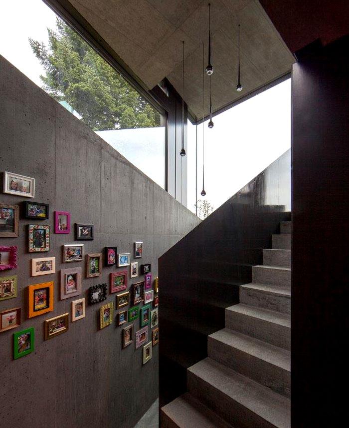 trubel house concrete wall decor