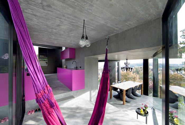 trubel house interior living room