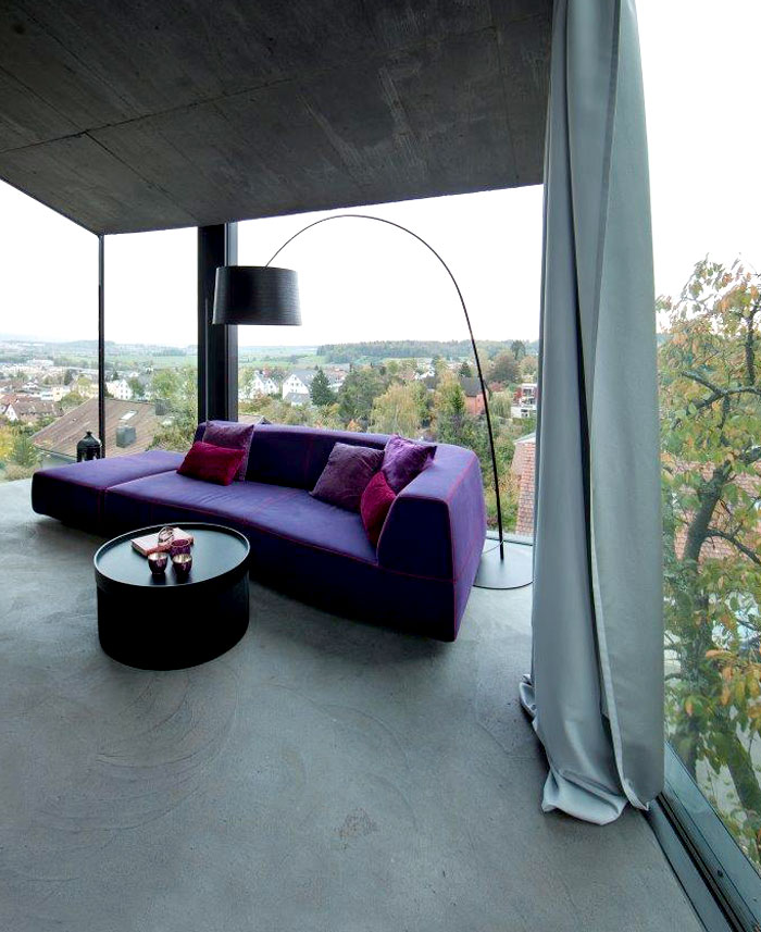 trubel house purple sofa