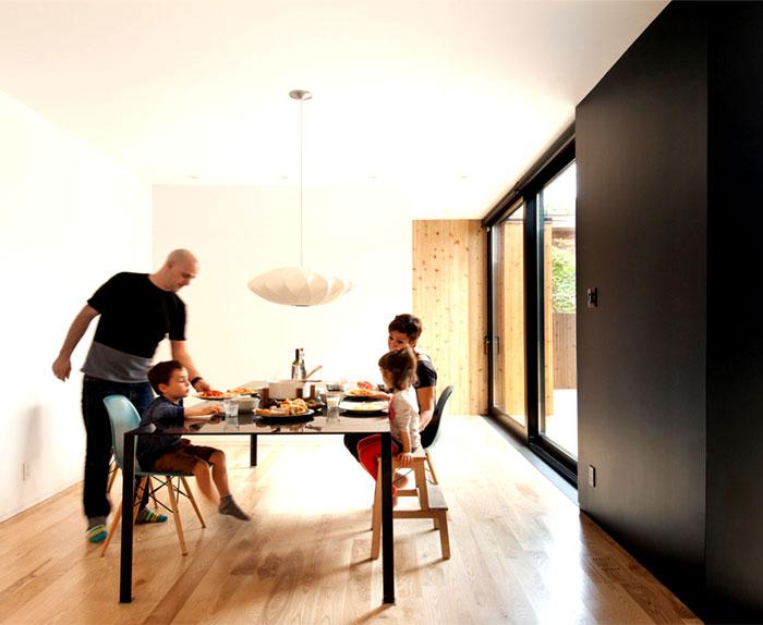 contemporary family home dining area