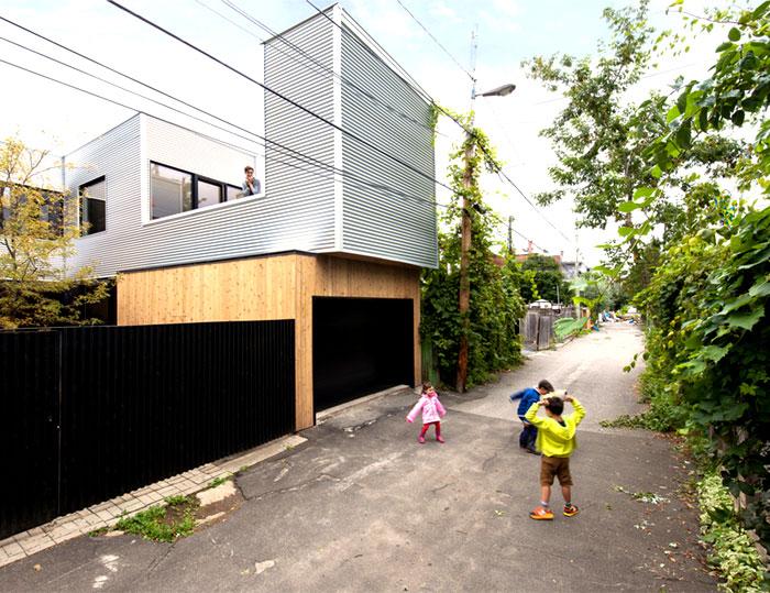 contemporary family home outdoor